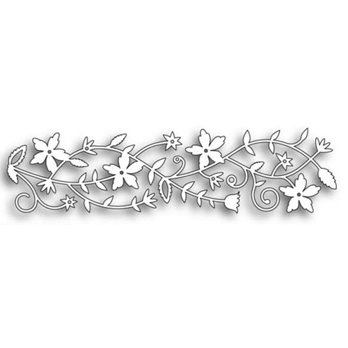 Memory Box FAIRYTALE FLOWER BORDER Craft DIE 98473 Preview Image