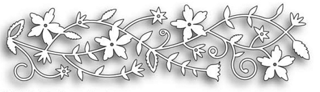 Memory Box FAIRYTALE FLOWER BORDER Craft DIE 98473 zoom image