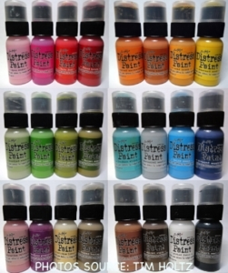 Tim Holtz Distress Paint SET OF 24 Ranger TDD24SET*