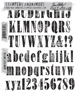 Tim Holtz Cling Rubber Stamps WORN TEXT cms156
