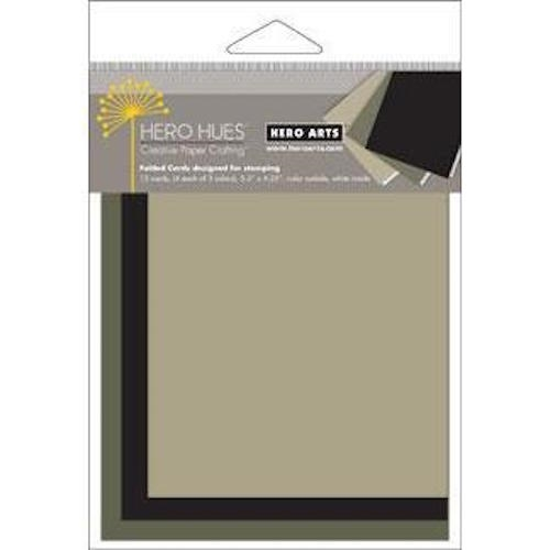 Hero Arts 12 MIX NOTECARDS MIDNIGHT Folded Cards PS698 zoom image