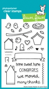 Lawn Fawn HOME SWEET HOME Clear Stamps*