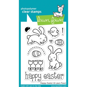 Lawn Fawn HAPPY EASTER Clear Stamps LF453