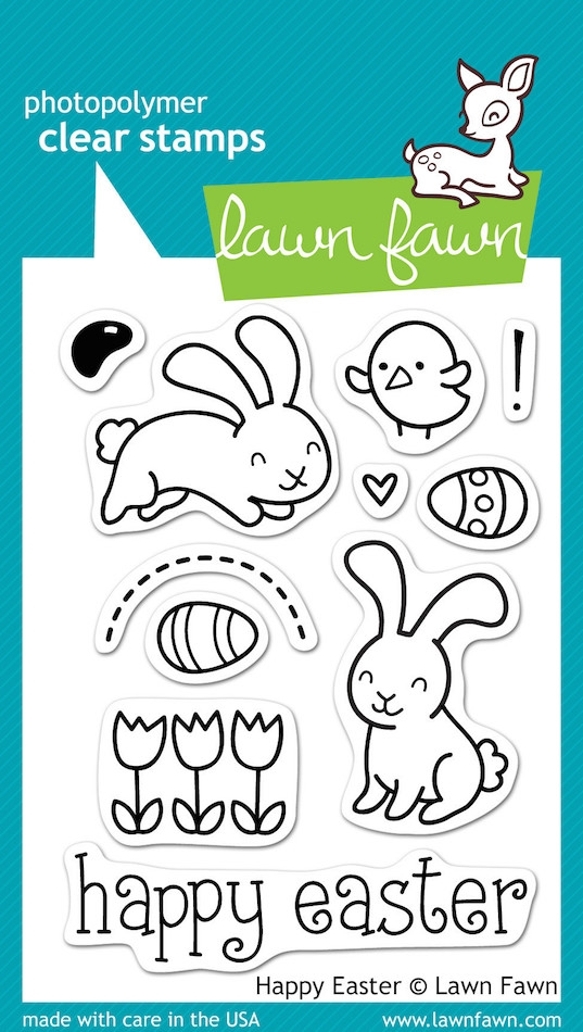 Lawn Fawn HAPPY EASTER Clear Stamps zoom image
