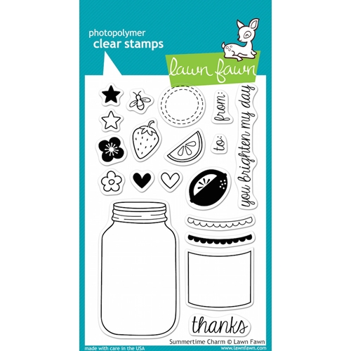 Lawn Fawn SUMMERTIME CHARM Clear Stamps Preview Image