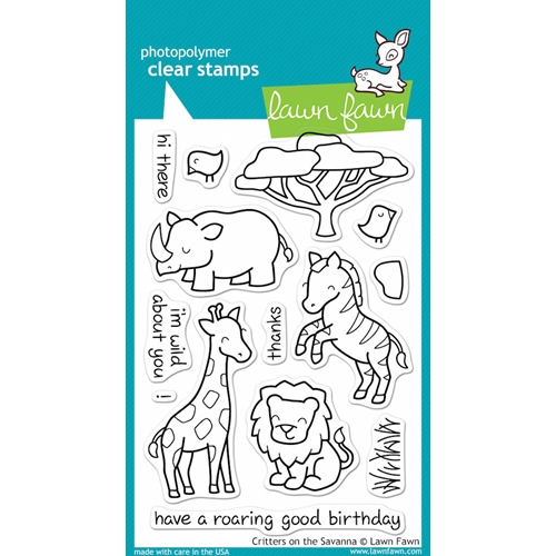 Lawn Fawn CRITTERS ON THE SAVANNA Clear Stamps Preview Image