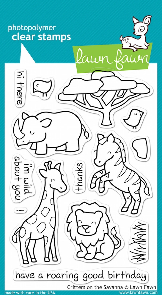 Lawn Fawn CRITTERS ON THE SAVANNA Clear Stamps zoom image