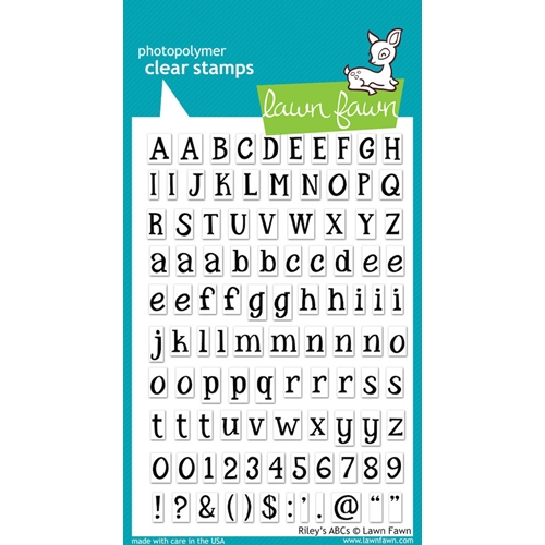 Lawn Fawn RILEY'S ABC's Clear Stamps Preview Image