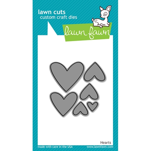 Lawn Fawn HEARTS Lawn Cuts Dies Preview Image