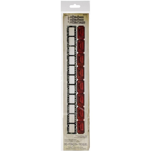 Tim Holtz Sizzix Die MINI FILMSTRIP & TICKETS Decorative Strip 658551 zoom image