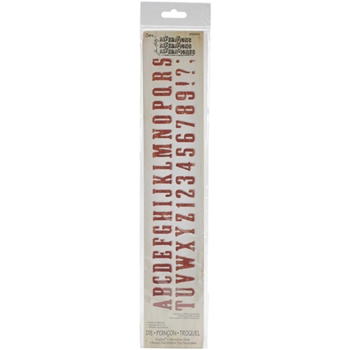 Tim Holtz Sizzix Die WANTED ALPHABET Decorative Strip 658554