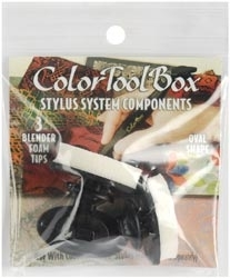 Clearsnap Colorbox OVAL BLENDER STYLUS TIPS 3 PACK Foam 690383
