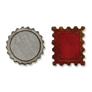 Tim Holtz Sizzix Die MINI BOTTLE CAP & STAMP Movers Shapers 658559 zoom image
