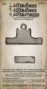 Tim Holtz Sizzix Die MINI CLIPBOARD TOP & BOTTOM Movers Shapers 658560