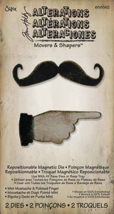 Tim Holtz Sizzix Die MINI MUSTACHE & POINTED FINGER Movers Shapers 658562 zoom image