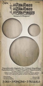 Tim Holtz Sizzix Die SIZED CIRCLES Movers Shapers 658566 zoom image