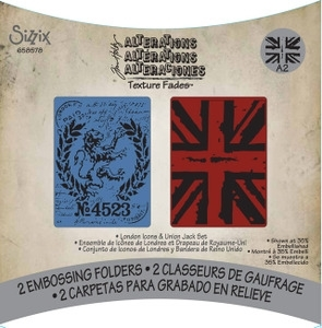 Tim Holtz Sizzix LONDON ICONS & UNION JACK Texture Fades 658578 Preview Image