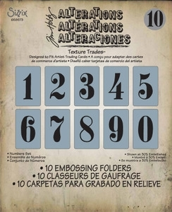 Tim Holtz Sizzix NUMBERS SET Texture Fades 658573 * zoom image