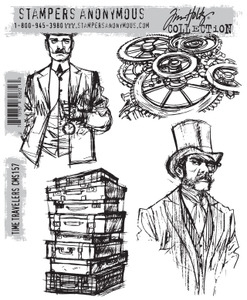 Tim Holtz Cling Rubber Stamps TIME TRAVELERS cms157 zoom image