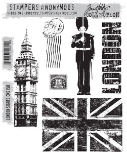 Tim Holtz Cling Rubber Stamps LONDON SIGHTS cms158 Preview Image