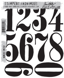 Tim Holtz Cling Rubber Stamps NUMERIC cms161