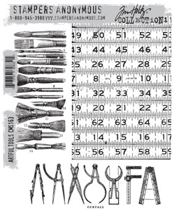Tim Holtz Cling Rubber Stamps ARTFUL TOOLS cms163