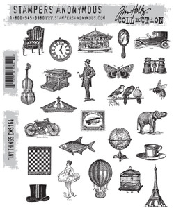 Tim Holtz Cling Rubber Stamps TINY THINGS CMS164 zoom image