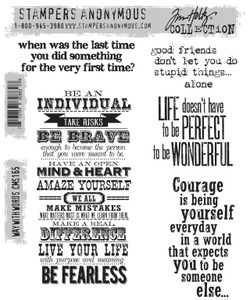 Tim Holtz Cling Rubber Stamps WAY WITH WORDS cms165 zoom image