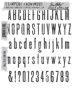 Tim Holtz Cling Rubber Stamps TALL TEXT CMS166
