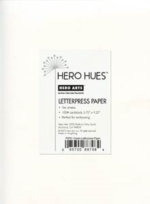 Hero Arts LETTERPRESS PAPER CREAM Hues ps701 zoom image
