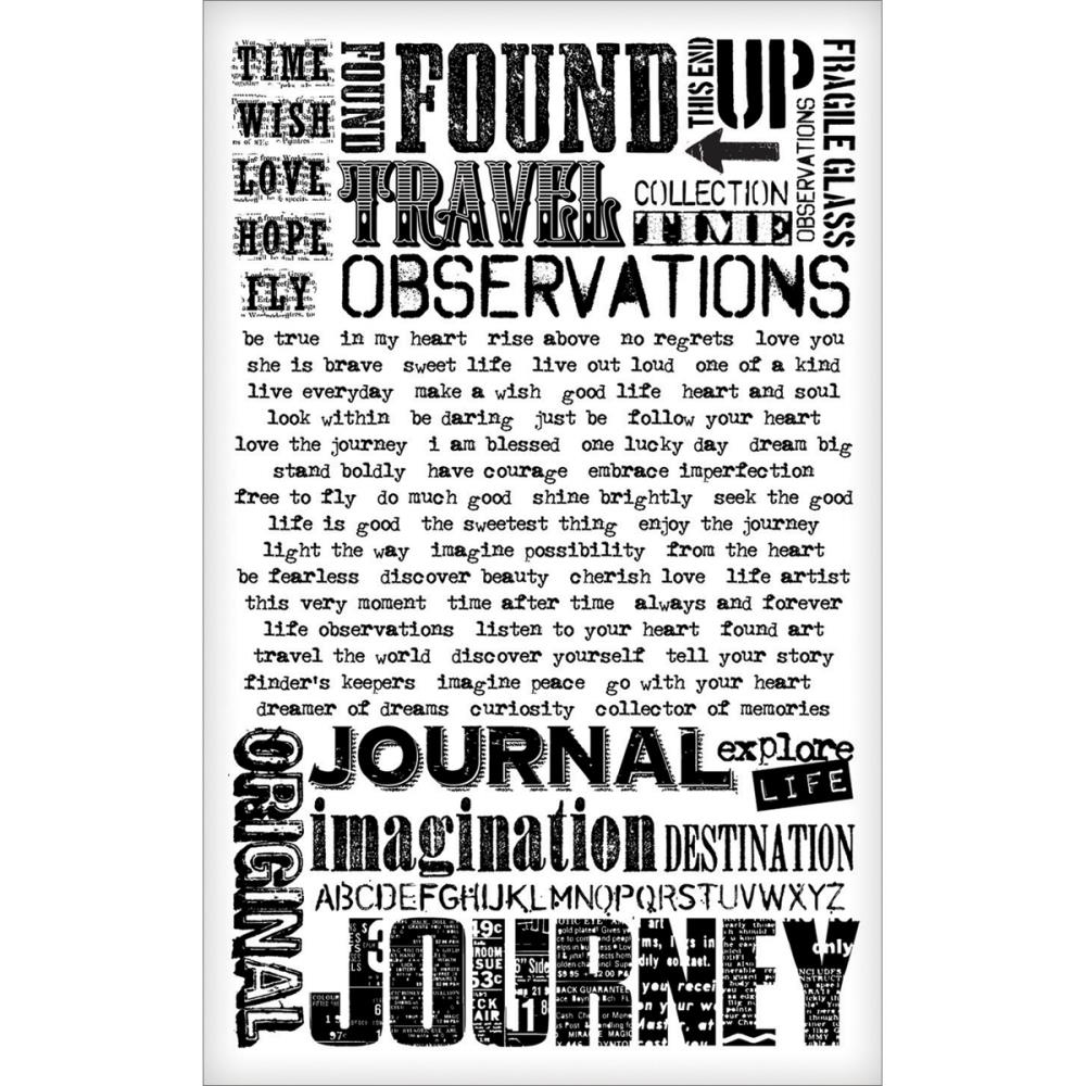 Tim Holtz Idea-ology WORDS REMNANT RUBS  TH93055 zoom image