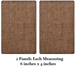 Tim Holtz DISTRICT MARKET Burlap Panels BARE 4 x 6 Set of 2 TH93063