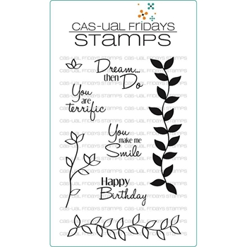 CAS-ual Fridays CASUAL ELEGANCE Clear Stamps CFSS13002*