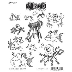 Dyan Reaveley UNDER THE SEA Stamp Set Dylusions Cling Unmounted Rubber Preview Image