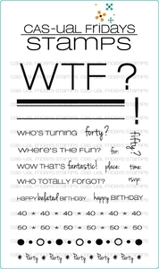 CAS-ual Fridays WTF Clear Stamps CFSS12001