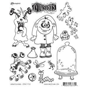 Dyan Reaveley MONSTER MASH Stamp Set Dylusions Cling Unmounted Rubber DYR37750 Preview Image