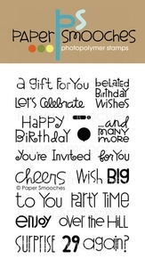 Paper Smooches BIRTHDAY SAMPLER Clear Stamps Kim Hughes