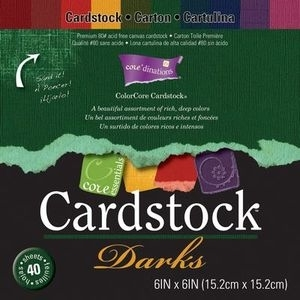 Core'Dinations DARKS 6 x 6 Cardstock 80# 40 Sheets GX-3000-06