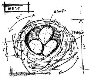 Tim Holtz Rubber Stamp NEST SKETCH Stampers Anonymous M4-2065 Preview Image