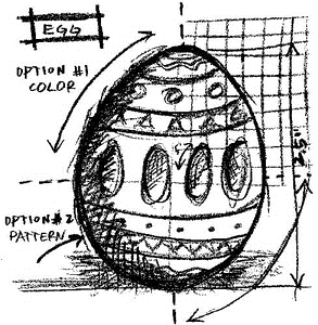 Tim Holtz Rubber Stamp EGG SKETCH Stampers Anonymous P1-2066