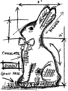 Tim Holtz Rubber Stamp BUNNY SKETCH Stampers Anonymous U1-2068 Preview Image