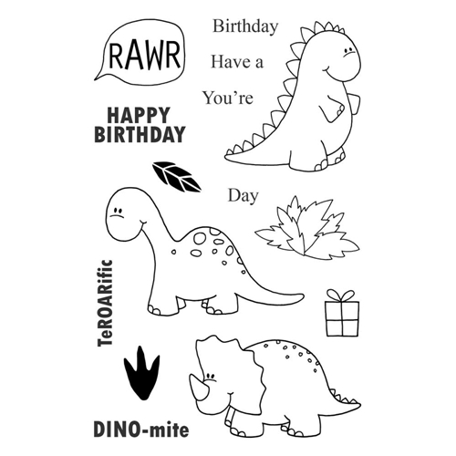 Jane's Doodles DINOMITE Clear Stamp Set 742736 Preview Image