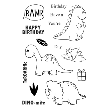 Jane's Doodles DINOMITE Clear Stamp Set 742736