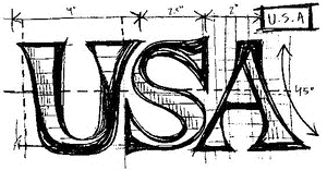 Tim Holtz Rubber Stamp USA SKETCH Stampers Anonymous M1-2069