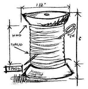Tim Holtz Rubber Stamp SPOOL SKETCH Stampers Anonymous M2-2073 Preview Image