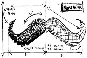 Tim Holtz Rubber Stamp MOUSTACHE SKETCH Stampers Anonymous P4-2086 Preview Image