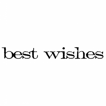 Tim Holtz Rubber Stamp BEST WISHES Stampers Anonymous D5-2148*