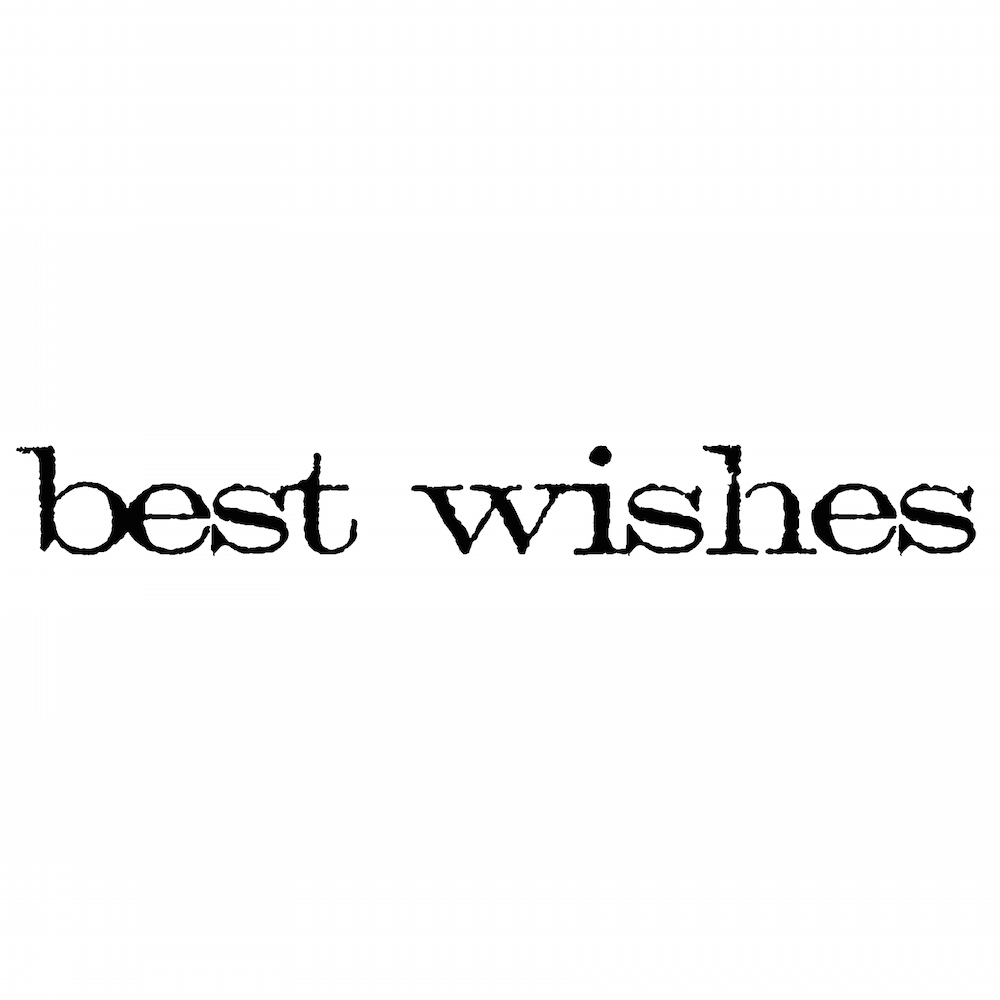 Tim Holtz Rubber Stamp BEST WISHES Stampers Anonymous D5-2148* zoom image