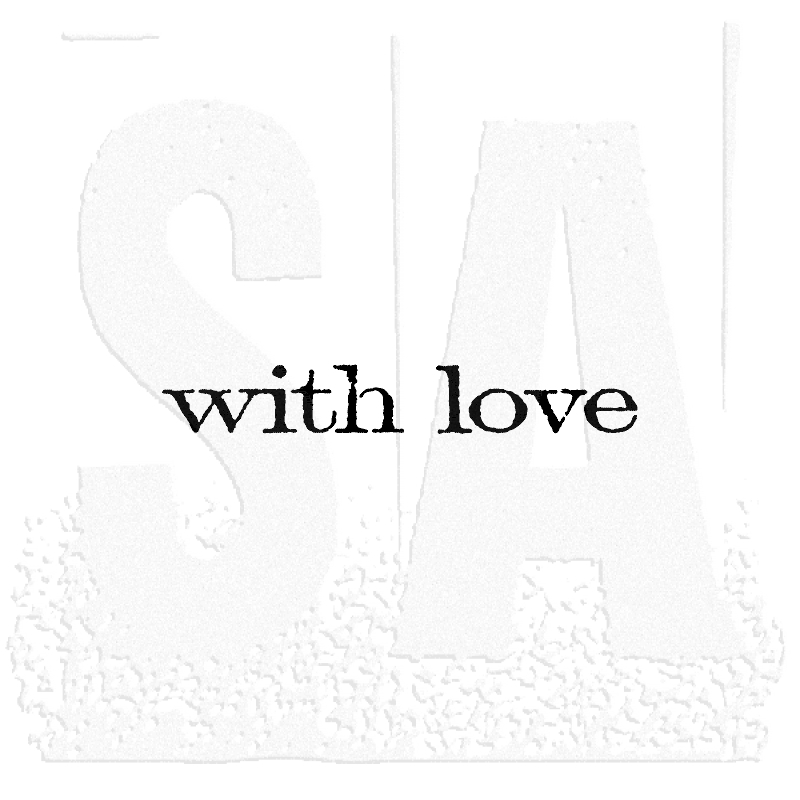 Tim Holtz Rubber Stamp WITH LOVE D6-2161 * zoom image