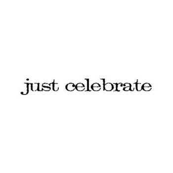Tim Holtz Rubber Stamp JUST CELEBRATE Stampers Anonymous D5-2146